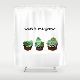 little green cactuses ( https://society6.com/totalflora/collection ) Shower Curtain