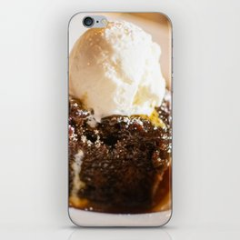Sticky toffee pudding and ice-cream iPhone Skin