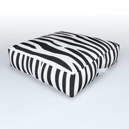 Abstract black white geometrical zebra animal print Outdoor Floor Cushion