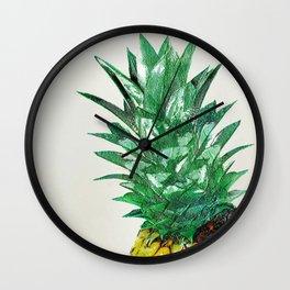 Pineapple II Wall Clock