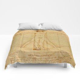 Leonardo da Vinci - Vitruvian Man Comforters