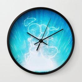 Cosmo + Celeste ( Colorful Cosmological Night Sky Couple in Love ) Wall Clock
