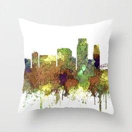 Corpus Christie, Texas Skyline SG - Safari Buff Throw Pillow