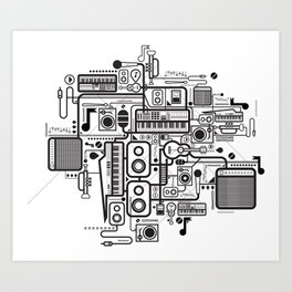 Audio Connected Art Print