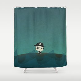 Small Pirate Captain Shower Curtain