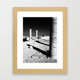 Pillars Framed Art Print
