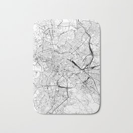 Rome White Map Bath Mat