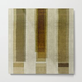 """Burlap Texture Greenery Columns"" Metal Print"
