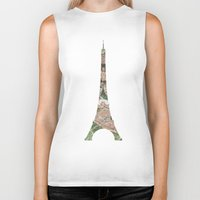 paris map Biker Tanks featuring Paris Map by Paula Belle Flores