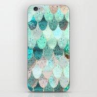 mermaid iPhone & iPod Skins featuring SUMMER MERMAID by Monika Strigel