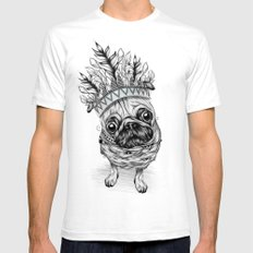 Indian Pug  Mens Fitted Tee SMALL White