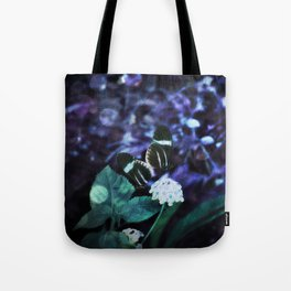 Butterfly Duel at Dusk Tote Bag
