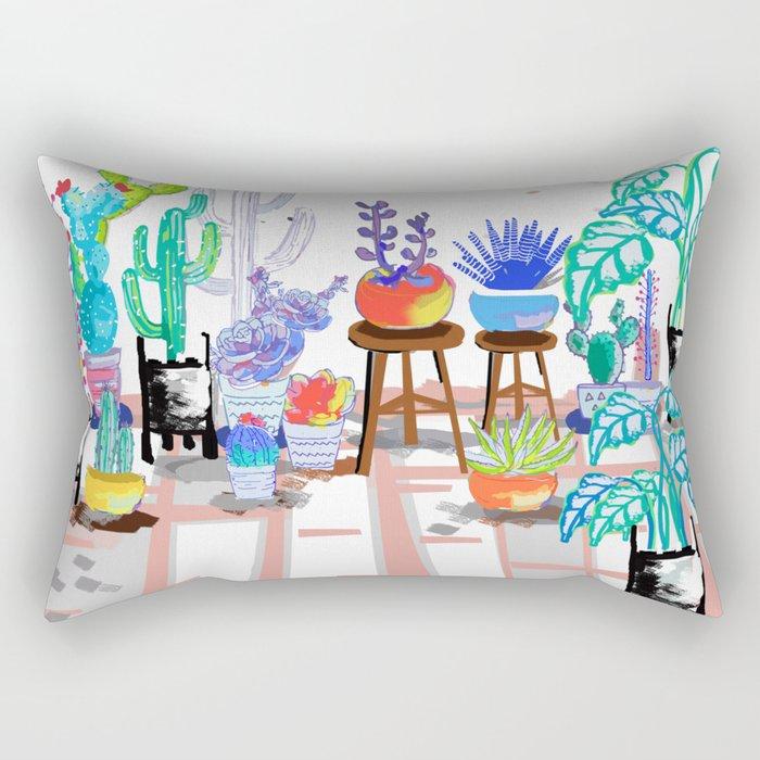 My Little Garden - illustration 2 Rectangular Pillow