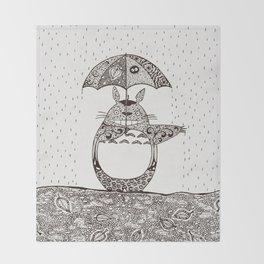Happy Totoro Throw Blanket