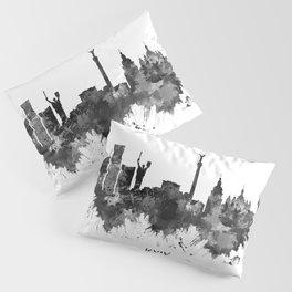 Kyiv Ukraine Skyline BW Pillow Sham