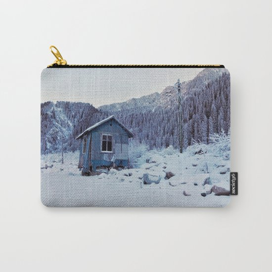 Small house in mountains Carry-All Pouch