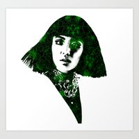 fringe Art Prints featuring fringe by fashionistheonlycure