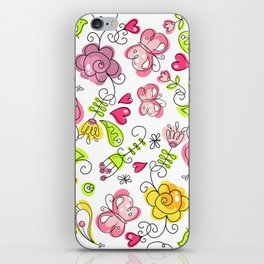 Watercolor Garden iPhone Skin