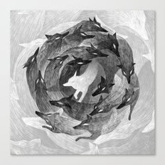 Running With The Wolves Canvas Print