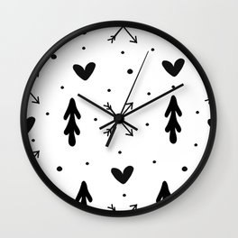 Tribal art Wall Clock