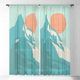As the sun rises over the peak Sheer Curtain