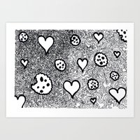 cookies Art Prints featuring cookies by Pietro