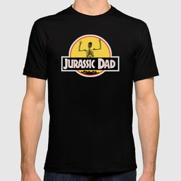 Jurassic Dad Dinosaur Skeleton Funny Birthday Gift 2 T-shirt
