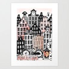 Midnight in Amsterdam  Art Print