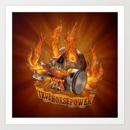 True Horsepower Art Print