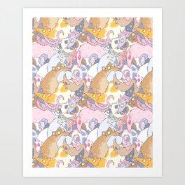 Fancy Rat Pattern Art Print