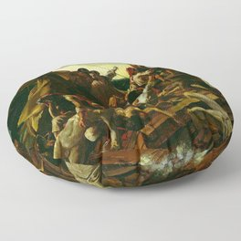 The Raft Of The Medusa By Théodore Géricault Floor Pillow