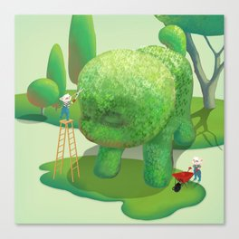 The Topiary Dog Canvas Print