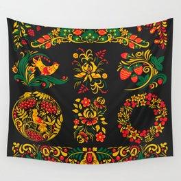 Native russian khokhloma Wall Tapestry