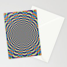 Rosette in Yellow and Blue Stationery Cards
