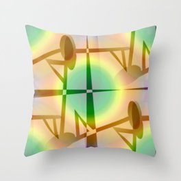 Pattern after earthquake ... Throw Pillow