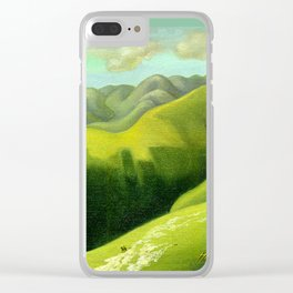 Mustering at the End of the Farm Clear iPhone Case