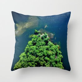 Archipelago Island - Aerial Photography Throw Pillow