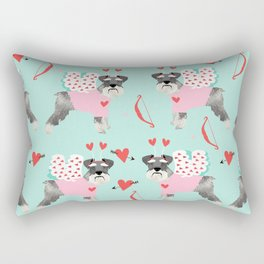 Schnauzer love cupid dog costume valentines day pet gifts schnauzers Rectangular Pillow