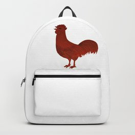 Alarm Clock Rooster 1 Backpack