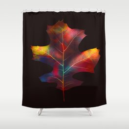 Rainbow Leaf Shower Curtain