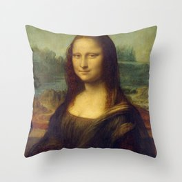 Mona Lisa - Leonardo da Vinci Throw Pillow