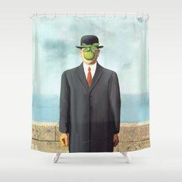 The Apple man Shower Curtain