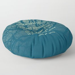 Tree of Character VINTAGE BLUE / Deep thoughts by Abe Lincoln Floor Pillow