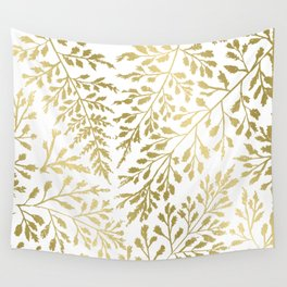 Gold Leaves Wall Tapestry