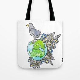 "Happy Alien Earth Bird (from the book, ""You, the Magician"") Tote Bag"