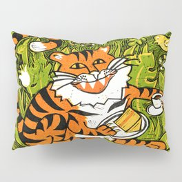 Tiger teatime Pillow Sham
