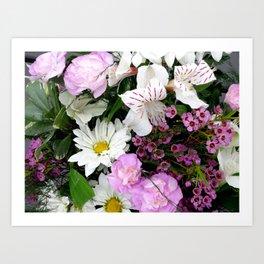 Birthday Flowers 2 Art Print