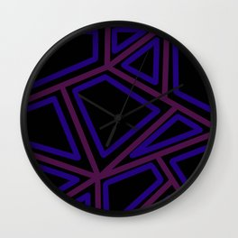 In Town - Black Wall Clock