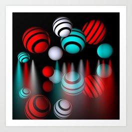 lightballs -3- Art Print