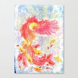 Firey Phoenix Canvas Print